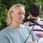 La Presidente del I Municipio, Sabrina Alfonsii,mentre legge la Preghiera dei Fedeli